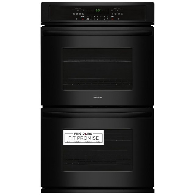 Frigidaire FFET3026TB 30 in. Double Electric Wall Oven Self-Cleaning in Black