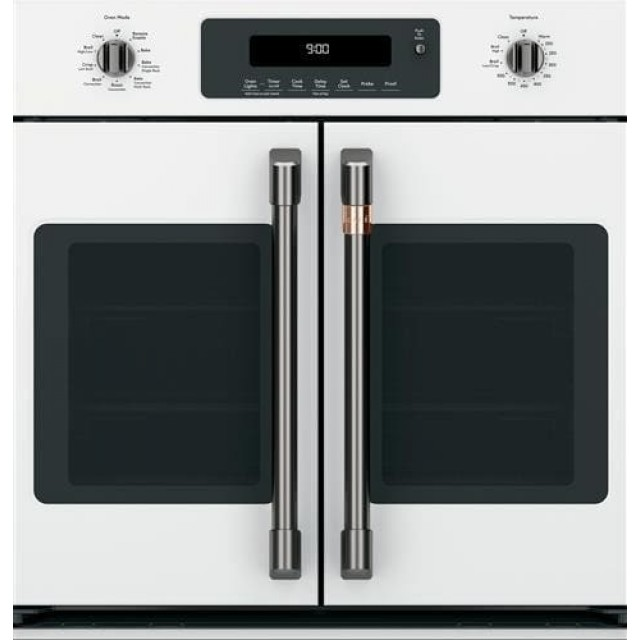 GE Cafe CTS90FP4MW2 30 Inch Smart Single French Door Electric Wall Oven with Wi-Fi Connect in Matte White