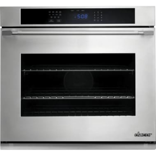 Dacor DTO130S 30 Inch Single Electric Wall Oven with 4.8 cu. ft. Convection Oven in Stainless Steel