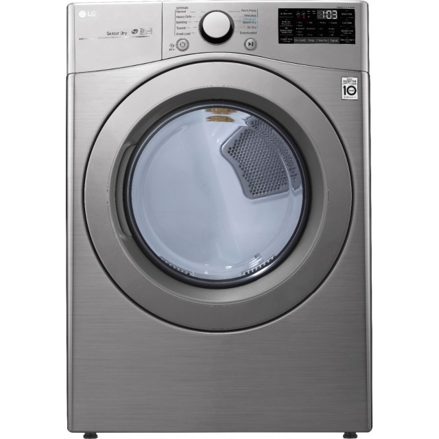 LG DLE3460V 7.4 Cu. Ft. 10-Cycle Electric Dryer with Sensor Dry in Graphite Steel