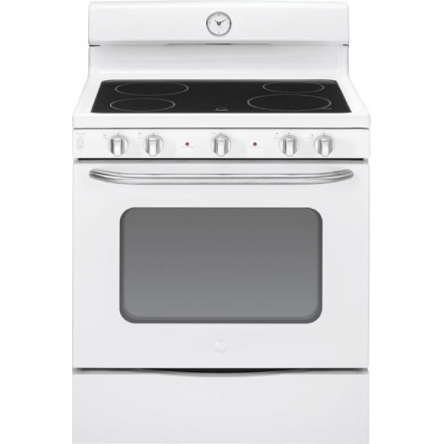 """GE ABS45DFWS Artistry™ Series 30"""" Free-Standing Electric Range in White"""