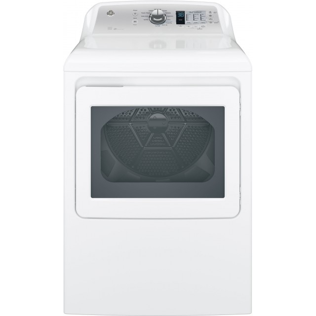 GE GTD65EBSJWS 27 Inch Electric Smart Dryer with Wi-Fi, Alexa & Google Home Voice Control, 12 Cycles and 7.4 Cu. Ft.: White