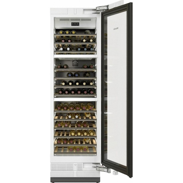 Miele KWT2661SFS MasterCool Series 24 Inch Smart Built-In Triple Zone Wine Cooler with 77 Bottle Capacity in Stainless Steel
