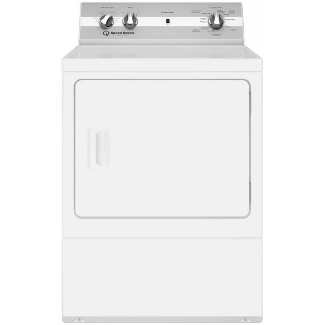 Speed Queen DC5000WE 27 Inch Electric Dryer with 7 cu. ft. Capacity, 4 Dry Cycles, 4 Temperature Settings, 3 Year Parts and Labor in White