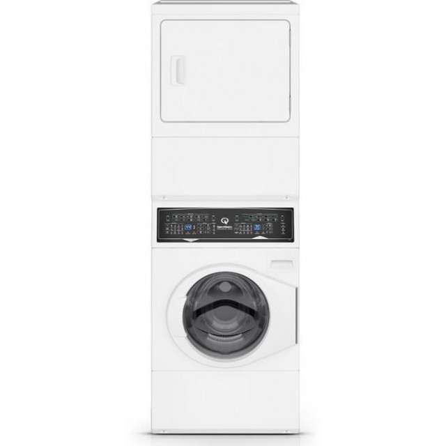 Speed Queen SF7003WG 27 Inch Gas Laundry Center with 3.4 cu. ft. Washer Capacity and 7.0 cu. ft. Dryer Capacity, 5 Year Warranty, in White