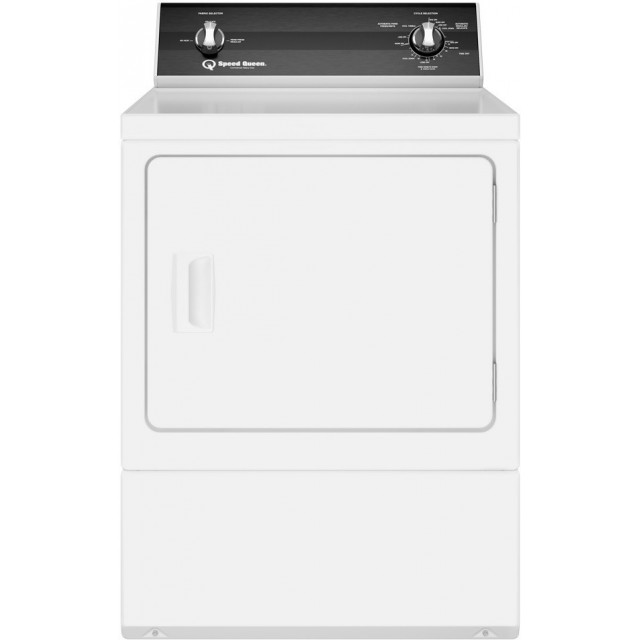 Speed Queen DR3000WG 27 Inch Gas Dryer with 7 cu. ft. Capacity, Extreme Tested Electronic Controls, 3 Year Warranty, in White
