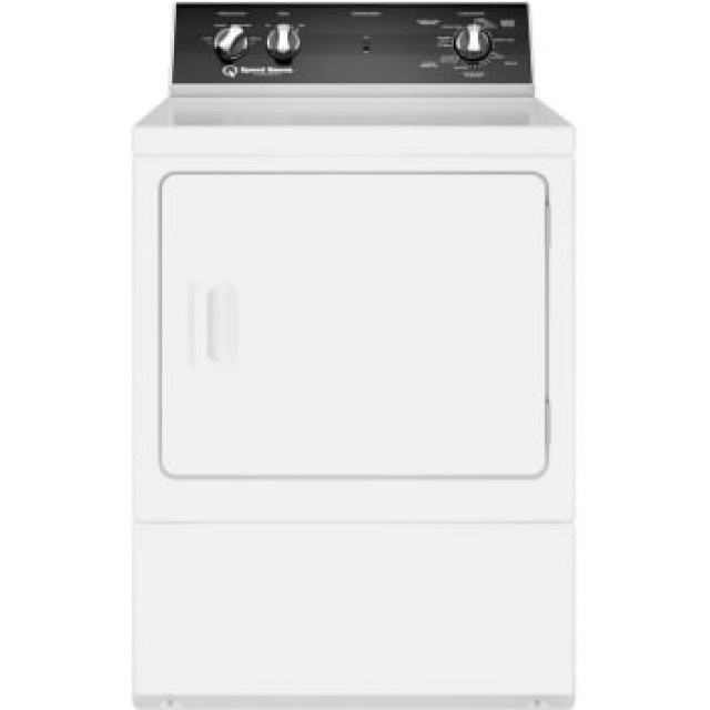 Speed Queen DR5000WG 27 Inch Gas Dryer with 7 cu. ft. Capacity, 4 Dry Cycles, 4 Temperature Settings, 5 Year Warranty, in White