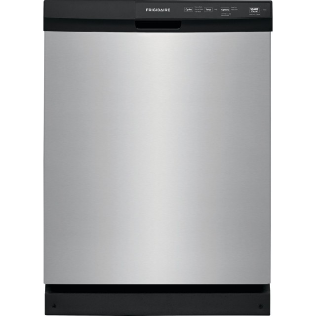 Frigidaire FFCD2413US 24 in. Built-In Front Control Tall Tub Dishwasher in Stainless Steel, 60 dBA