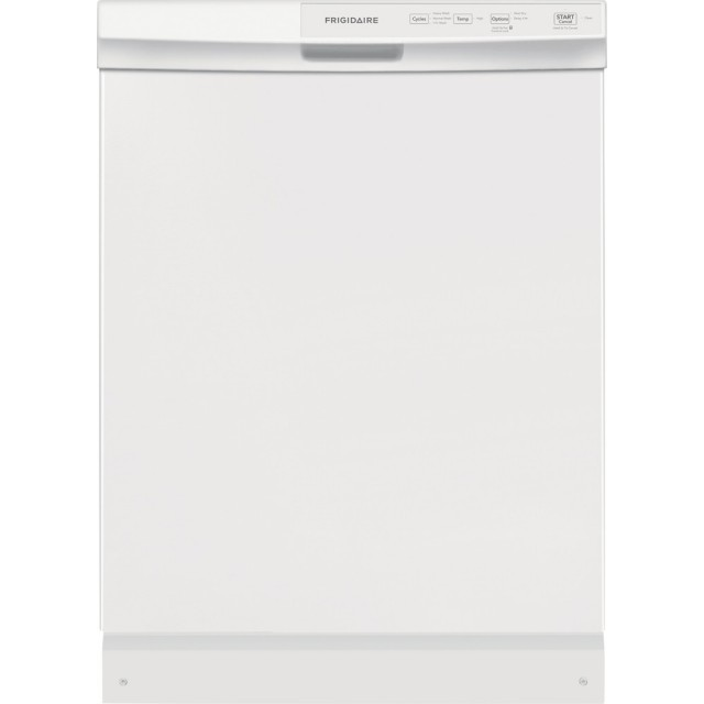 Frigidaire FFCD2413UW 24 in. Built-In Front Control Tall Tub Dishwasher in White, 60 dBA