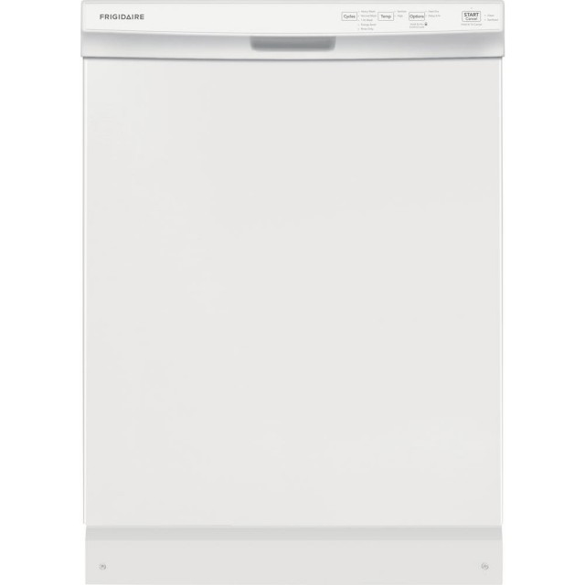 Frigidaire FFCD2418UW 24 in. Built-In Front Control Tall Tub Dishwasher in White, 55 dBA