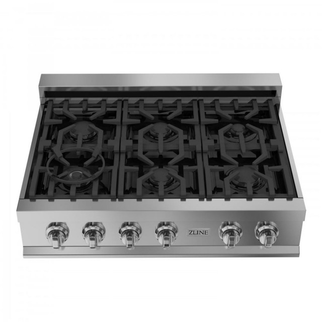 ZLINE 36 in. Porcelain with 6 Gas Burners (RT36)