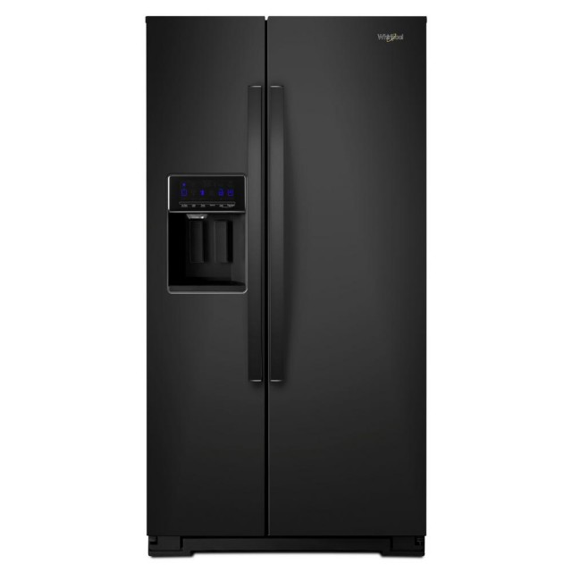 Whirlpool WRS571CIHB 36 Inch 21 cu. ft. Side by Side Refrigerator in Black