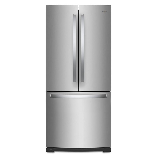 Whirlpool WRF560SMHZ 30 Inch 20 cu. ft. French Door Refrigerator in Fingerprint Resistant Stainless Steel