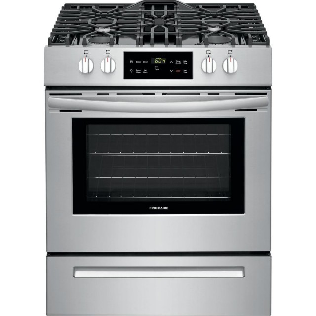 Frigidaire FFGH3051VS 30 in. 5 cu. ft. Front Control Gas Range in Stainless Steel