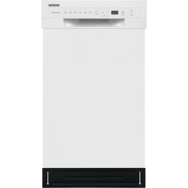 Frigidaire FFBD1831UW Front Control Built-in Tall Tub Dishwasher in White with Stainless Steel, ADA Compliant, ENERGY STAR, 52 dBA