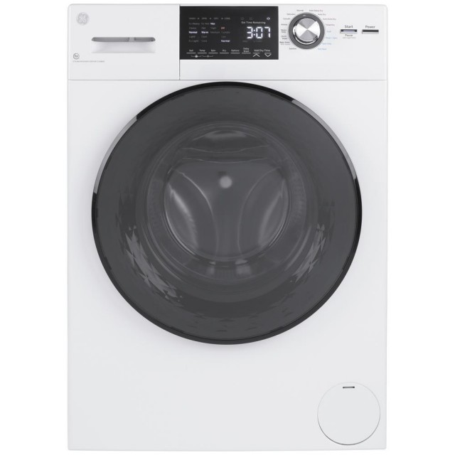 GE GFQ14ESSNWW 2.4 cu. ft. White High-Efficiency 120-Volt Ventless Electric All-in-One Washer and Dryer Combo