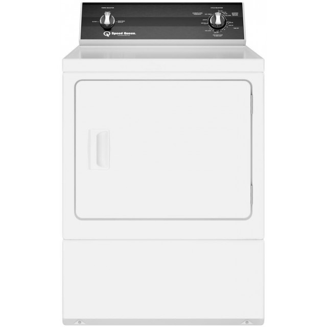 Speed Queen DR3003WG 27 Inch Gas Dryer with 7 Cu. Ft. Capacity, Sanitize, Reversible Door, Interior Light, Up-Front Lint Filter, Galvanized Cylinder, 220-CFM Exhaust, 3 Preset Cycles, 2 Auto Dry Cycles, 3 Temperature Selections, and ADA Compliant