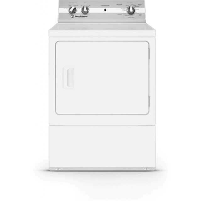 Speed Queen DC5003WE 27 Inch Electric Dryer with 7.0 Cu. Ft. Capacity, 4 Pre-Set Cycles, End of Cycle Indicator, Reversible Door, Interior Light, and ADA Compliant