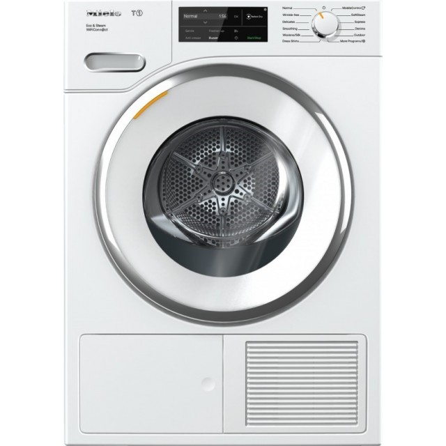 Miele TWI180WP 24 Inch Electric Smart Dryer with 4.1 Cu. Ft. Capacity, WiFiConn@ct, 18 Dryer Programs, Steam, Delay Start, Eco Dry, Wrinkle-Free, ADA Compliant, and Energy Star®