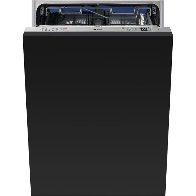 Smeg STU8647 24 Inch Fully Integrated Dishwasher with 13 Place Settings, 5 Wash Cycles, Aquastop Water Protection System, Aquatest Sensor, Orbital Wash System, Stainless Steel Tub, and ENERGY STAR® Rated: Panel Ready