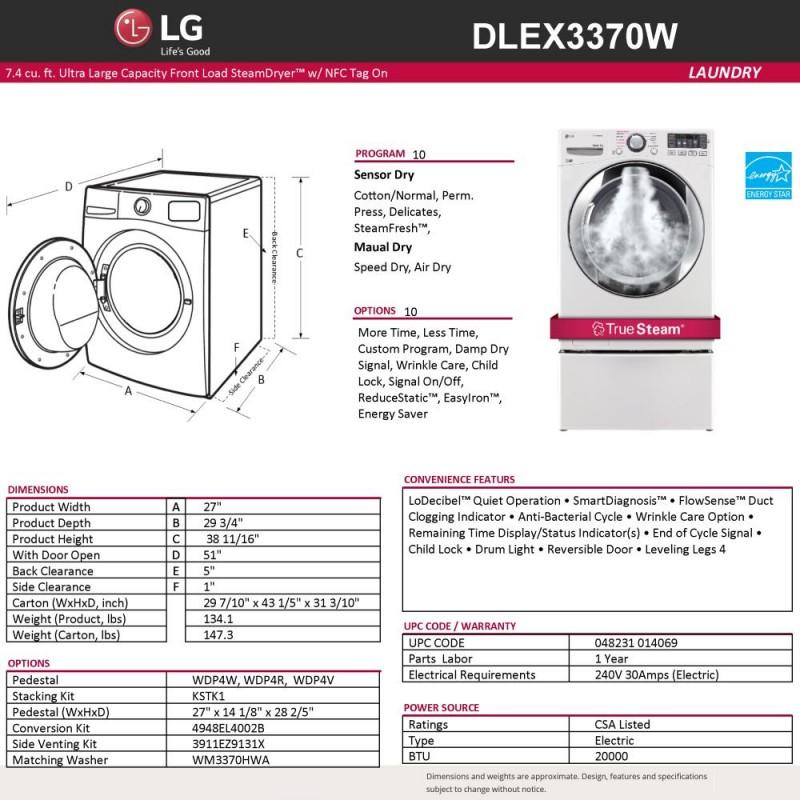 Lg Washer Dryer Set W Chrome Trim