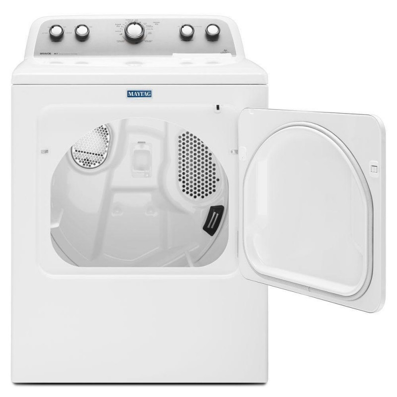 maytag medxdw bravos  cu ft electric dryer  white