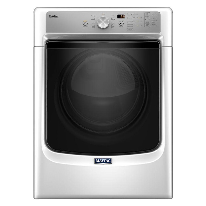 Maytag Mhw3505fw 4 3 Cu Ft Front Load Washer And Med5500fw0 7 4 Cu Ft Electric Dryer In White