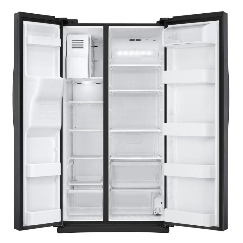 Samsung 24 5 Cu Ft Side By Side Refrigerator In Black