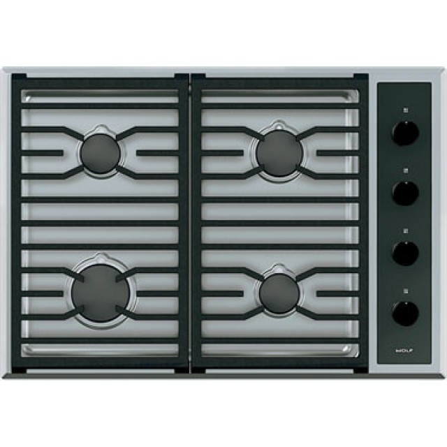 Wolf CG304TS 30 Inch Transitional Gas Cooktop with 4 Dual-Stacked Sealed Burners