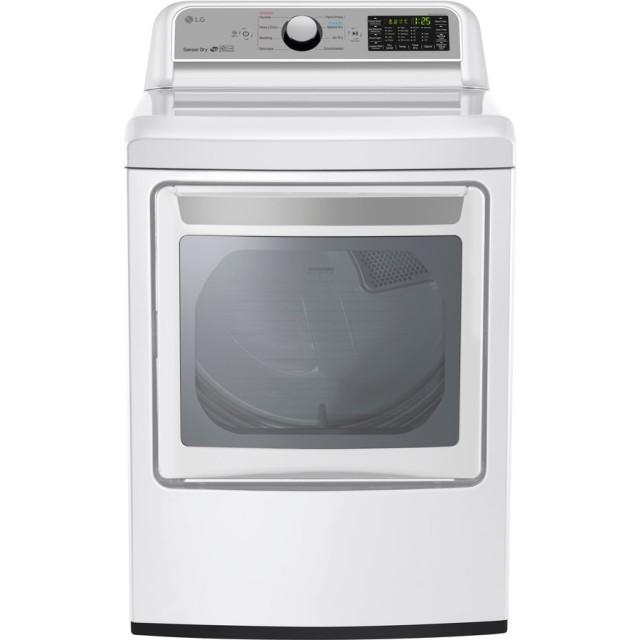 LG DLG7201WE 7.3-cu ft Gas Dryer (White) ENERGY STAR