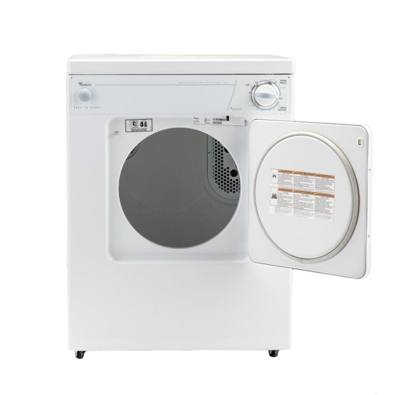 Whirlpool LDR3822PQ2 3.4-cu ft Stackable Portable Electric Dryer (White)
