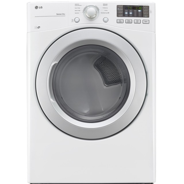 LG DLE3170W 7.4-cu ft Stackable Electric Dryer (White) ENERGY STAR