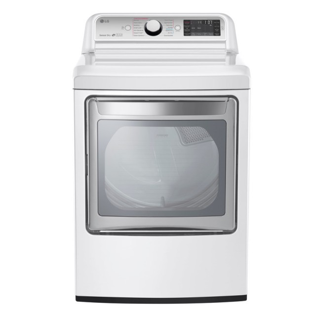 LG DLGX7601WE 7.3-cu ft Gas Dryer (White) ENERGY STAR