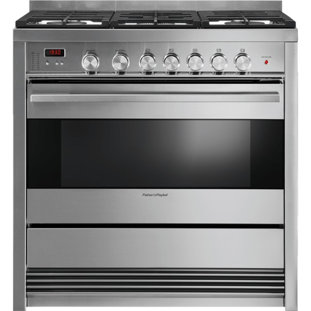 Fisher & Paykel OR36SDBMX1 5-Burner Freestanding 3.6-cu ft True Convection Gas Range (Stainless Steel)