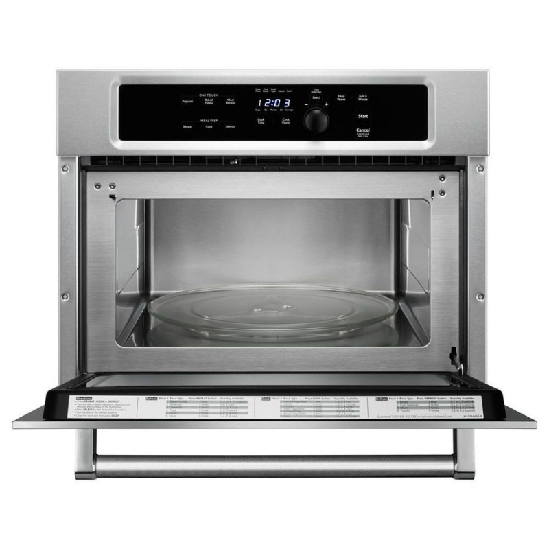 Kitchenaid Kmbs104ess 1 4 Cu Ft Built In Microwave With Sensor Cooking Controls Stainless Steel