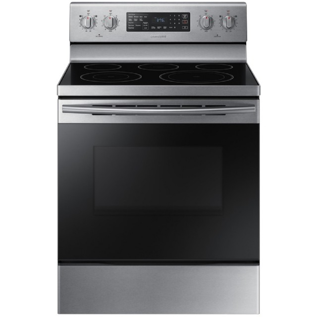 Samsung NE59M4320SS Samsung Smooth Surface Freestanding 5-Element 5.9-cu ft Self-cleaning Convection Electric Range (Stainless Steel) (Common: 30 Inch; Actual: 29.875-in)