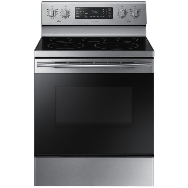 Electric Range Smooth Top Cooking Surface Summit On In: Samsung NE59M4320SS Samsung Smooth Surface Freestanding 5