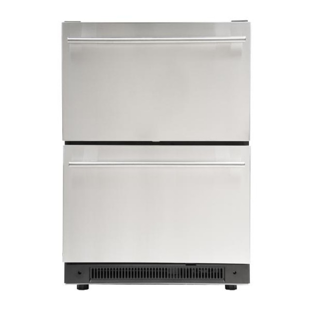 Haier DD400RS Built-in Under Counter Dual Drawer Refrigerator, Stainless Steel Front