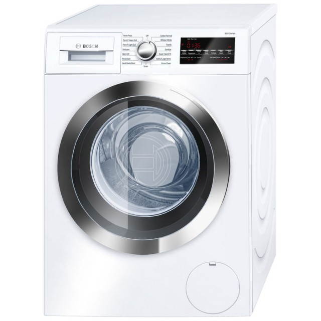 Bosch WAT28402UC 800 Series 2.2-cu ft High-Efficiency Stackable Front-Load Washer (White/Chrome Trim) ENERGY STAR