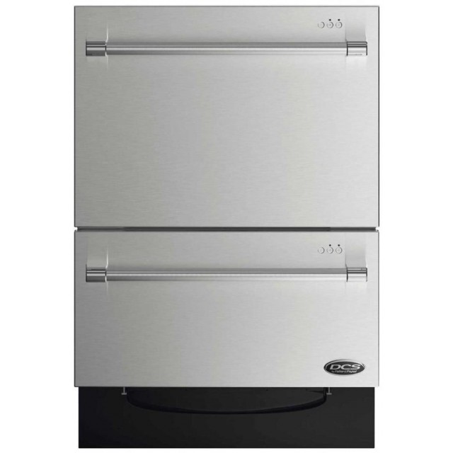 DCS DD24DV2T7 24 Inch Drawers Dishwasher in Stainless Steel