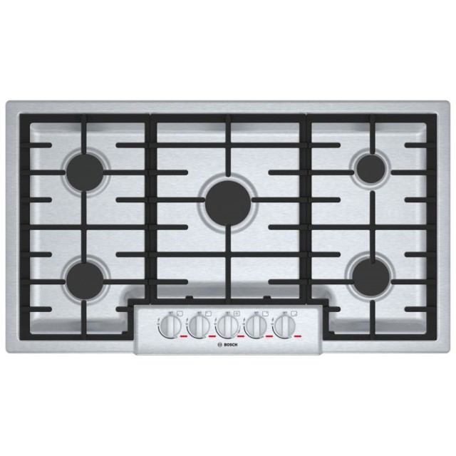 Bosch NGMP655UC Benchmark 37 Inch Gas Cooktop in Stainless Steel