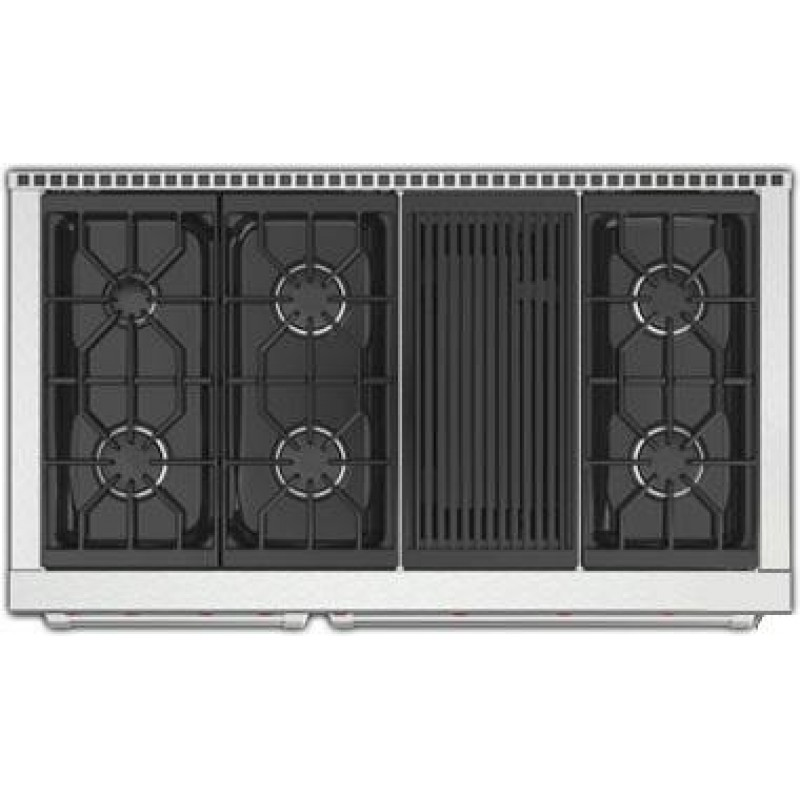 Double Wolf Gr486c 48 Inch Pro Style Gas Range With 6 Burners Grill