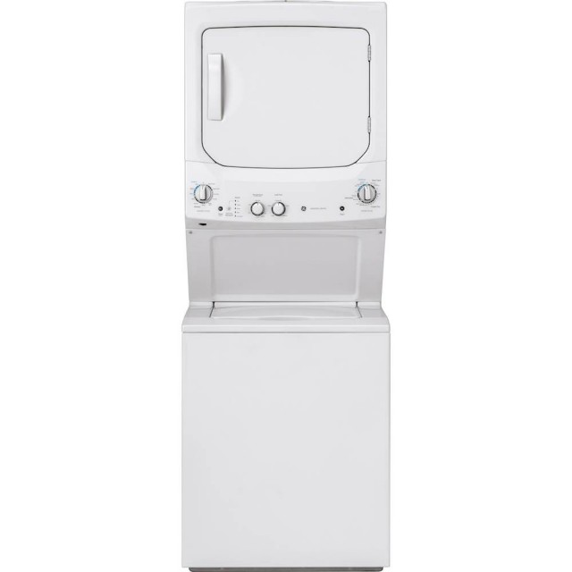 GE GUD27ESSMWW White Laundry Center Washer 3.8 cu. ft. and 5.9 cu. ft. 240 Volt Vented Electric Dryer