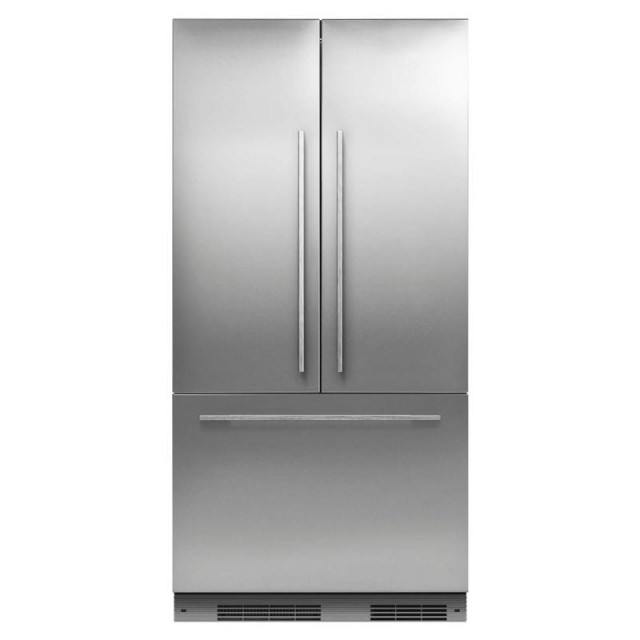 Fisher & Paykel RS36A72J1 36 Inch Built In Counter Depth French Door Refrigerator, Fisher & Paykel OB30SCEPX3 30 Inch 4.1 cu. ft. Total Capacity Electric Single Wall Oven and Fisher & Paykel DD24DCTX9 24 Inch Drawers Semi-Integrated Dishwasher
