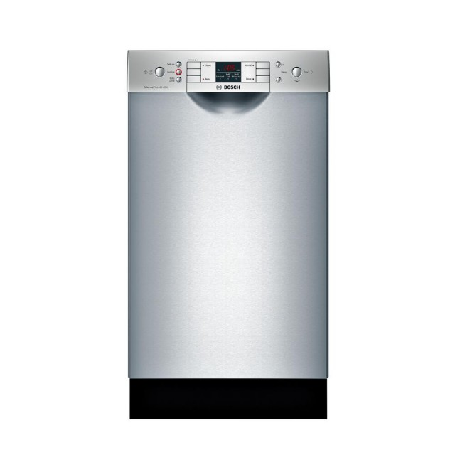 Bosch SPE53U55UC 300 Series 18 in. Compact Front Control Tall Tub Dishwasher in Stainless Steel with Stainless Steel Tub, 46dBA