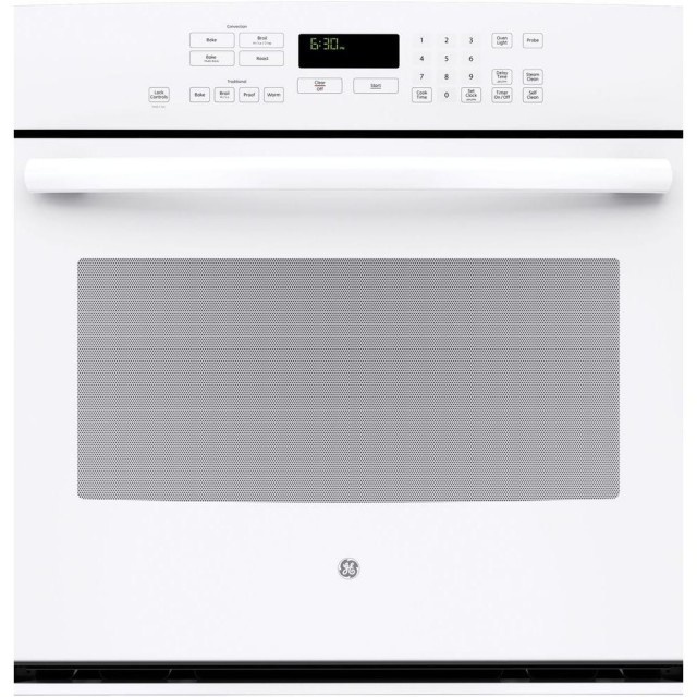 GE PT7050DFWW Profile 30 in. Single Electric Wall Oven Self-Cleaning with Steam Plus Convection in White