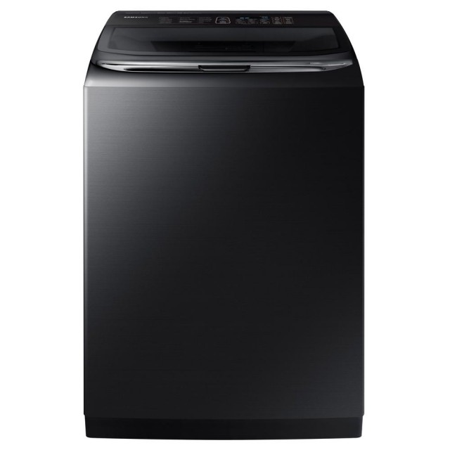 Samsung WA54M8750AV 5.4 cu. ft. High-Efficiency Top Load Washer with Activewash and Steam in Black Stainless, ENERGY STAR