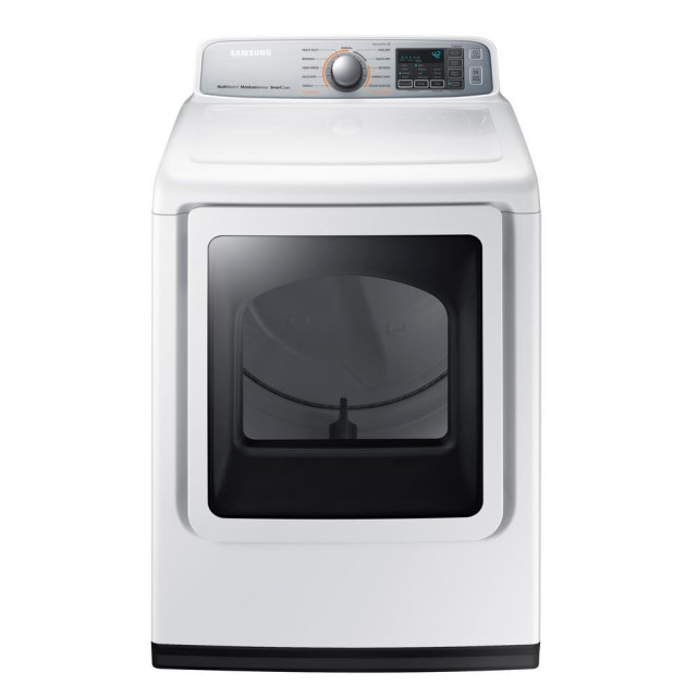 Samsung DVE50M7450W 7.4 cu. ft. Electric Dryer with Steam in White