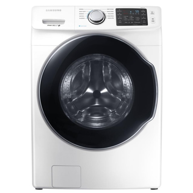 Samsung WF45M5500AW 4.5 cu. ft. High Efficiency Front Load Washer with Steam in White, ENERGY STAR