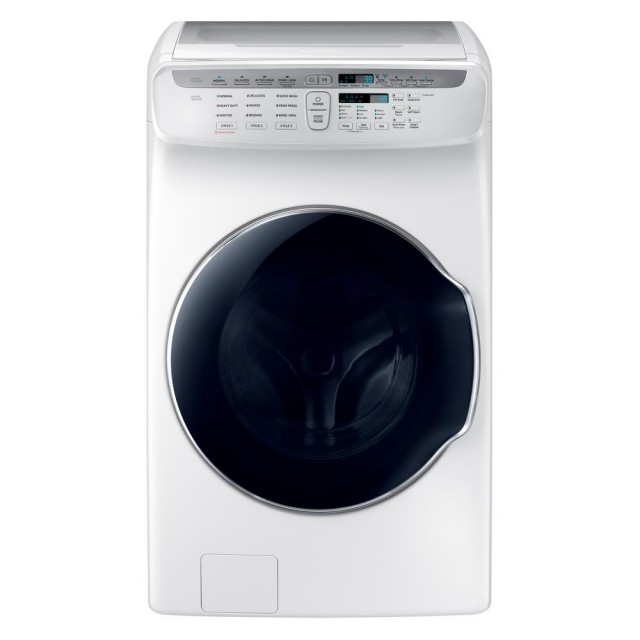 Samsung WV55M9600AW 5.5 Total cu. ft. High-Efficiency FlexWash Washer in White